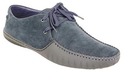 Classique Mens Suede Look Italian Shoes 5896 navy