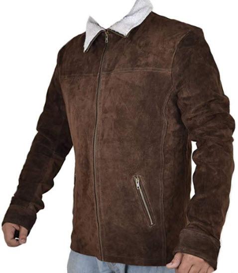 Classyak Grimes Series Suede Leather Jacket. Xs-5xl