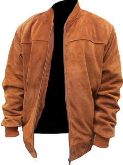 Classyak Men's Fashion Slimfit Suede Real Leather Bomber Jacket