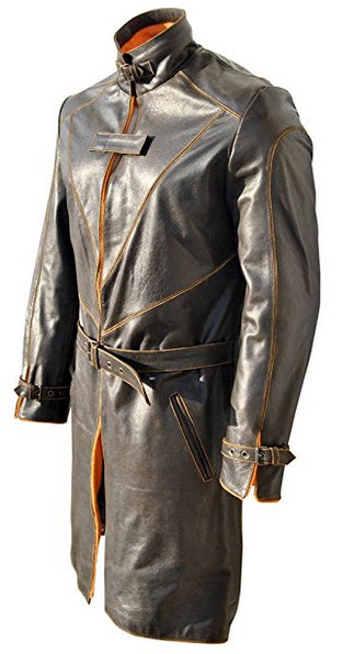 Classyak WD Trench Original Distressed Leather Coat, High Quality, Xs-5xl.