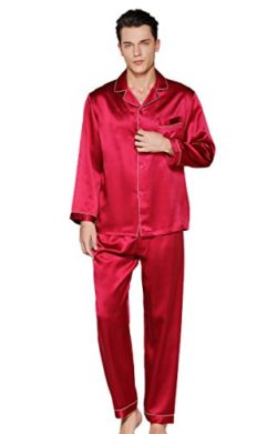 CLC Men's Pure Mulberry Silk Pajama Set Sleep Sets by Colorful Silk
