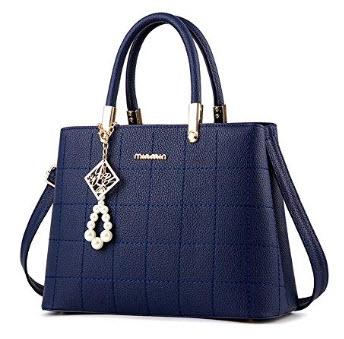 Clocolor Women Fashion Purses and Ladies Handbags Designer Satchel Tote Bag Shoulder Bags, dark blue