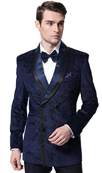 CMDC Men's Two Pieces Double Breasted Tuxedo Blazer Tuxedo Pants D367CMDC .