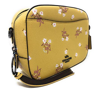 Coach Camera Crossbody Bag With Floral Bow Print DK/SNF Sunflower