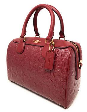 Coach Signature Patent Leather Mini Bennett IM/CHE Cherry