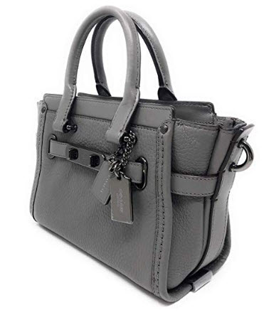 Coach Women's Pebbled Leather Coach Swagger 20 Satchel GM/HGR Heather Grey