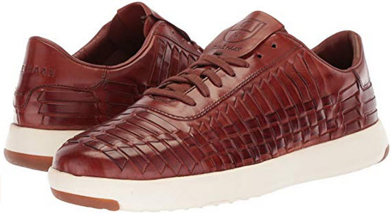 Cole Haan Men's Grandpro Tennis Huarache Sneaker woodbury woven burnish
