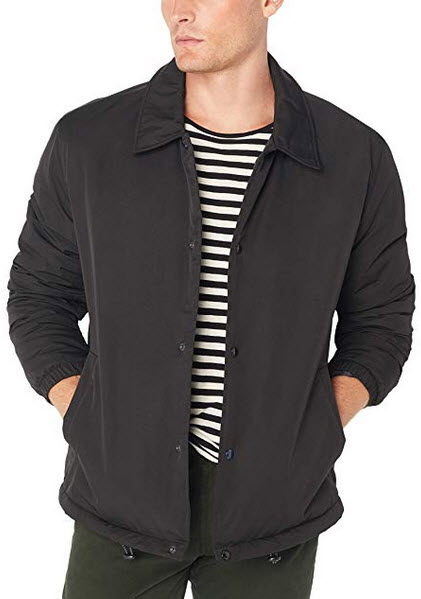 Cole Haan Signature Men's Coach Jacket with Faux Sherpa Lining black