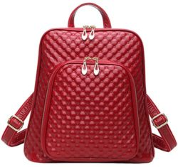 Coolcy New Fashion Women's Genuine Leather Backpack