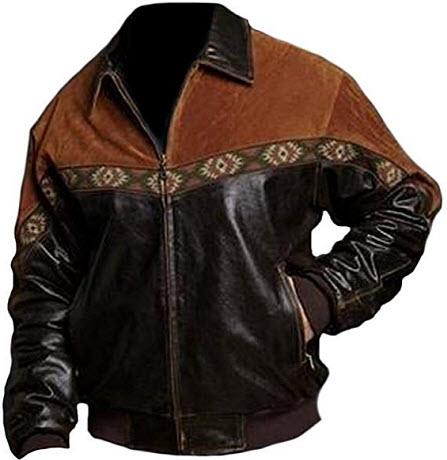 coolhides Men's Stylish Mix Leather Fashion Jacket