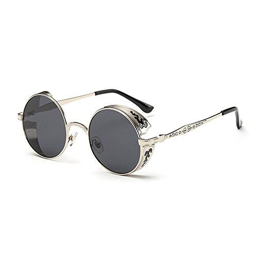 Coolsunny Vintage Hippie Retro Metal Round Circle Frame Sunglasses CS1039