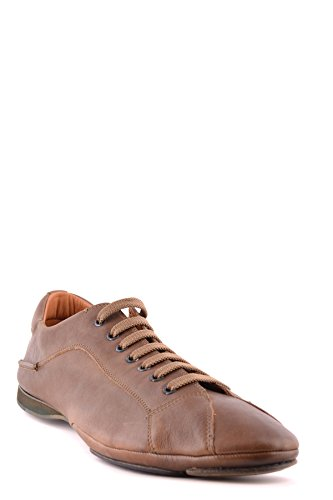 Costume National Men's MCBI074053O Brown Leather Sneakers