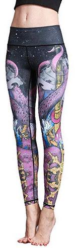 COUKONG Women Yoga Pants High Waist Sport Skinny Workout Gym Leggings Sports Training Pants