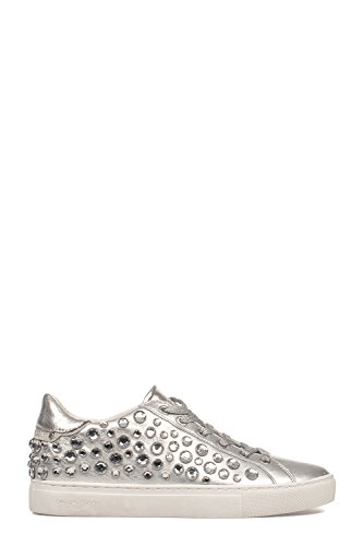 CRIME LONDON Women's 25221KS125 Silver Leather Sneakers