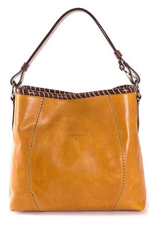 Cuoieria Fiorentina Italian Leather Hand-stitched Hobo Handbag