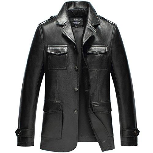 Cwmalls Custom Mens Lambskin Leather Jacket Blazer