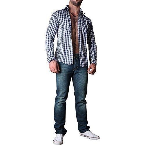 D`Sema Men's Longsleeve Shirt Slim Fit Casual Oktoberfest holfzäller Men Shirt