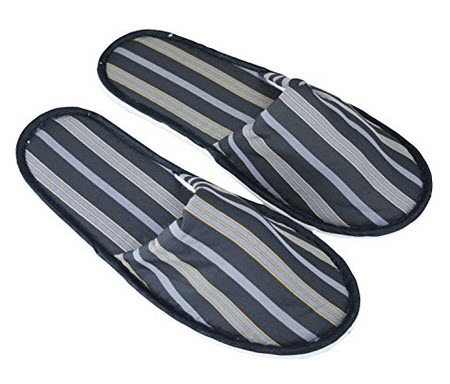 Daily Essentials Mens Slippers Grey Size 9-10 (42) Light Comfortable & Ideal for Travel .