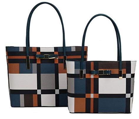 Darling's Bowknot Dazzling Designer Carryall Tote – 2 Piece Shoulder Bag Set – ...