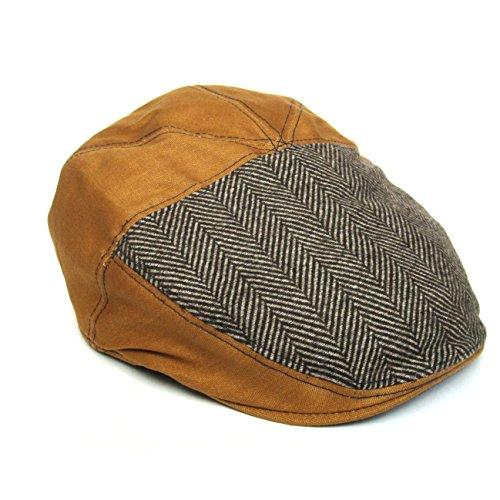 Dasmarca Dean Tweed Herringbone Wool Winter Flat Cap