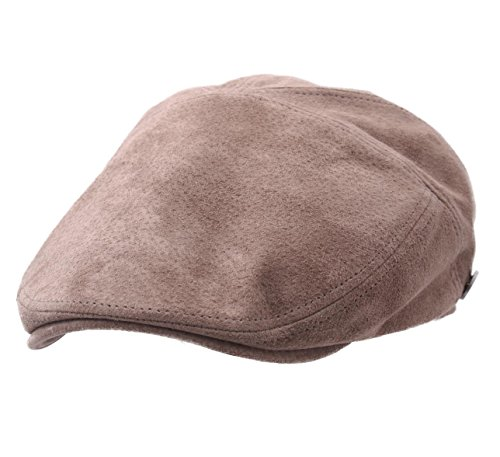 Dasmarca Men's Alex Leather Flat Cap