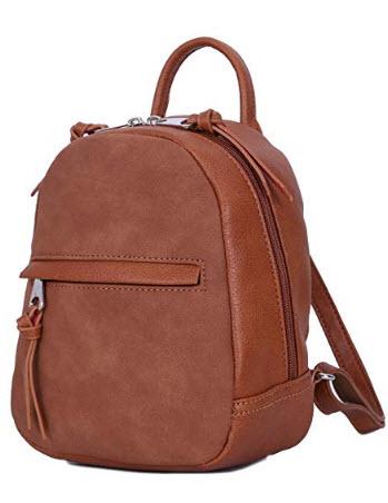 DAVIDJONES women backpacks pu leather female shoulder bags small lady patchwork school bag