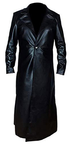 Jackson Leather Dead Man WWE American Superstar Undertaker Black Real Leather Trench Coat