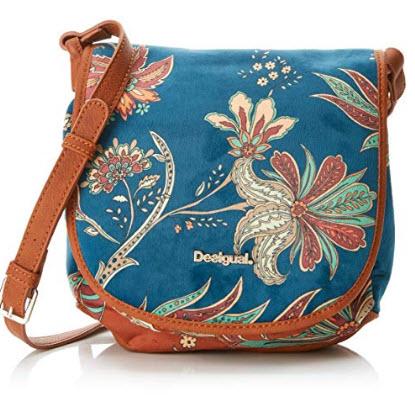 Desigual Bols_discovery_beirut, Women's Cross-Body Bag, Blue (Petrucho), 7x22x22 cm (B x H T)