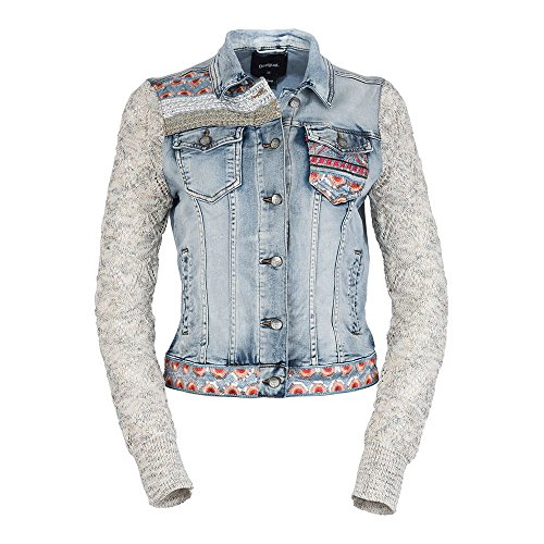 Desigual Women's Carla Sequin Denim Jacket