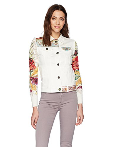 Desigual Women's LA For You Embroidered Detail Denim Jacket