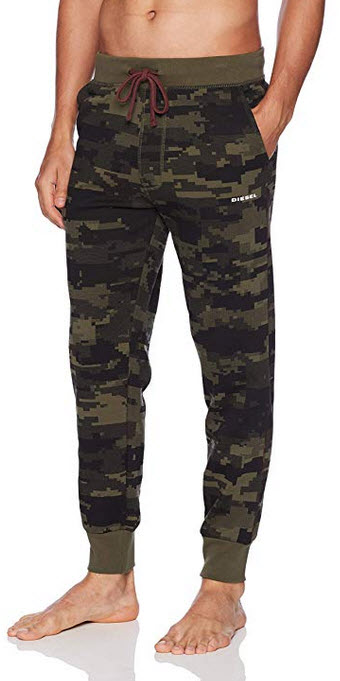 Diesel Men's Umlb-Peter Drawstring Lounge Pants olive green