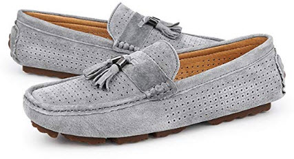 Dig dog bone Men's Drive Loafers for Casual Suede British Tassel Fashion Breathable Boat M ...