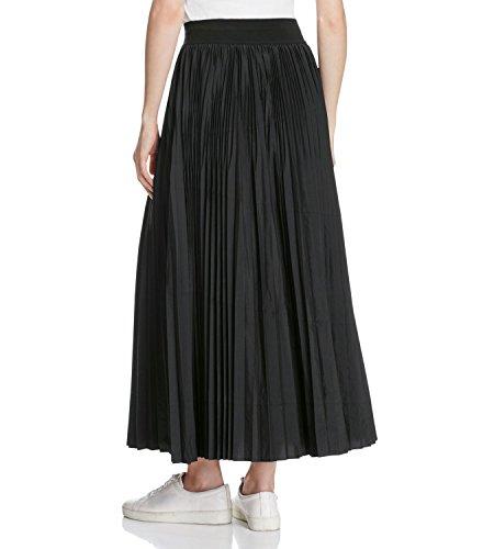 DKNY Deep Womens Large Pull-On Pleated Maxi Skirt Black L