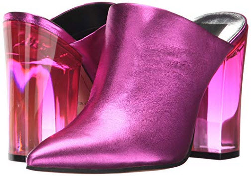 Dolce Vita Women's ENYA Mule fuchsia metallic leather