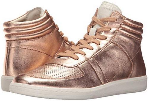 Dolce Vita Women's Nate Sneaker rose gold leather