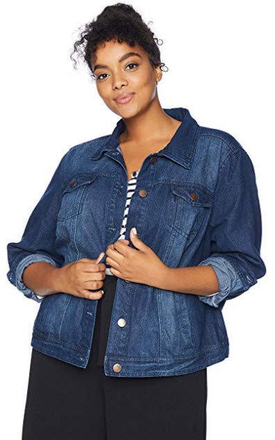 dollhouse Women's Size Dark Plus Denim Jacket