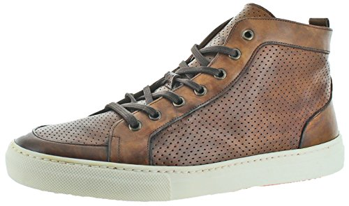 Donald J Pliner Tyrus Men's Perforated Leather Hightop Sneakers Shoes