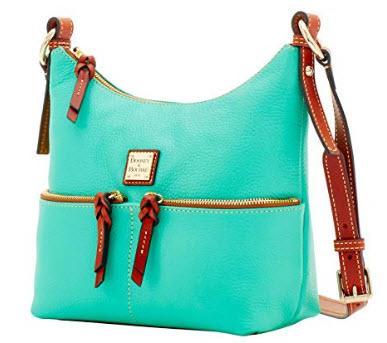 Dooney & Bourke Pebble Grain Leather Alyssa Crossbody Shoulder Bag Purse Handbag, Midnight B ...
