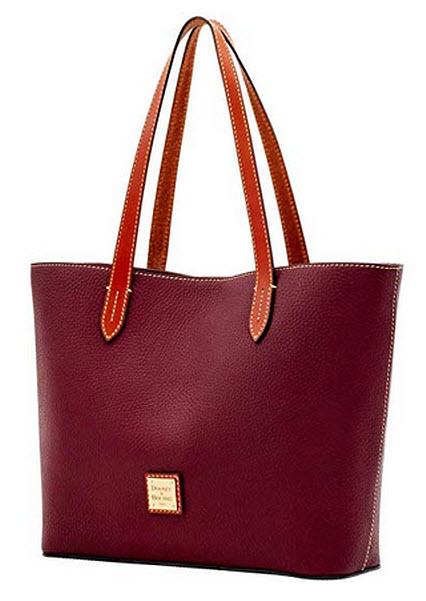 Dooney & Bourke Women's Medium Harlyn Pebbled Leather Tote Shoulder Bag Purse Handbag  ...