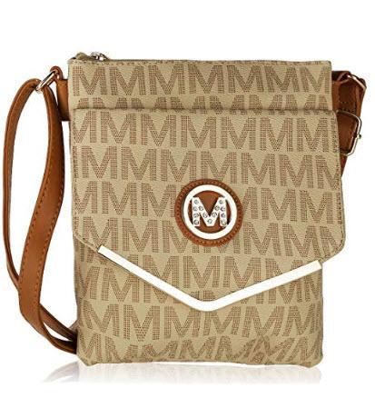 Double Compartment Large Flapover Crossbody Bag Sofie M Signature Crossbody Bag by Mia K Farrow