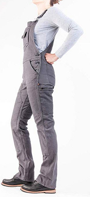 Dovetail Workwear Overalls for Women Freshley Stretch Bib Overall – Dark gray canvas