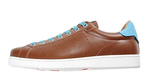 DSQUARED2 Santa Monica Calf Leather & Suede Low-Top Sneaker