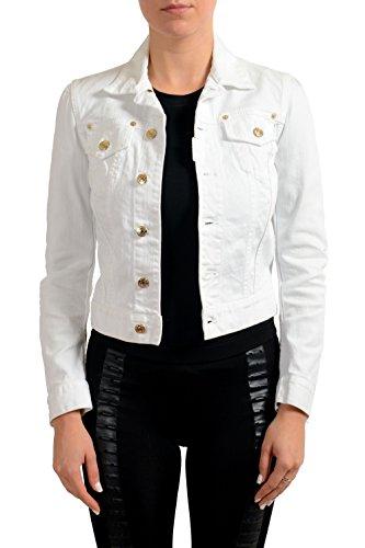 Dsquared2 White Women's Button Down Denim Jean Jacket US XS IT 38