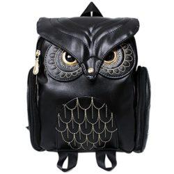 DuDuDou Fashion Pu Leather Owl Backpack