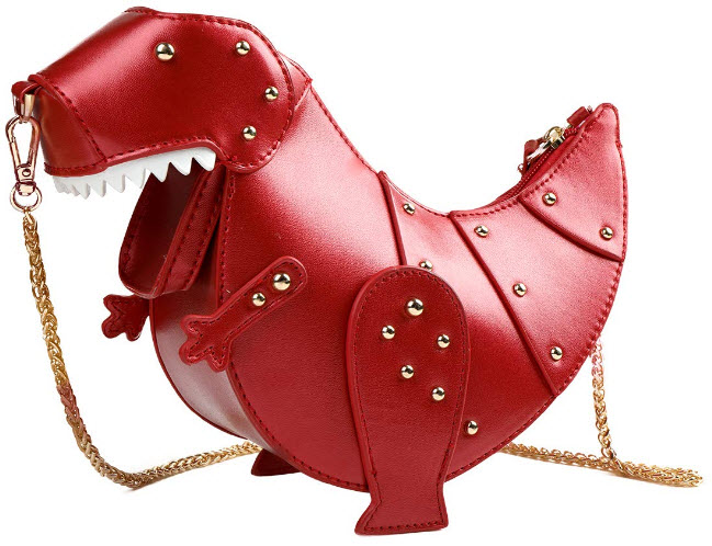DUSUN Women Messenger Bags Dinosaur Shape PU Leather Rivet Chain Crossbody Shoulder Bag Girl Min ...
