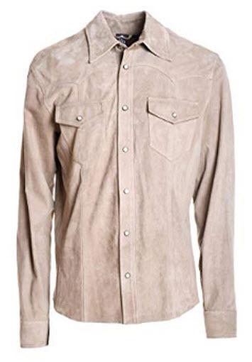 Eleventy Men's Grey Suede Shirt