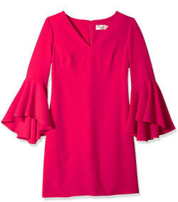 Eliza J Women's V-Neck Bell Sleeves Shift Dress