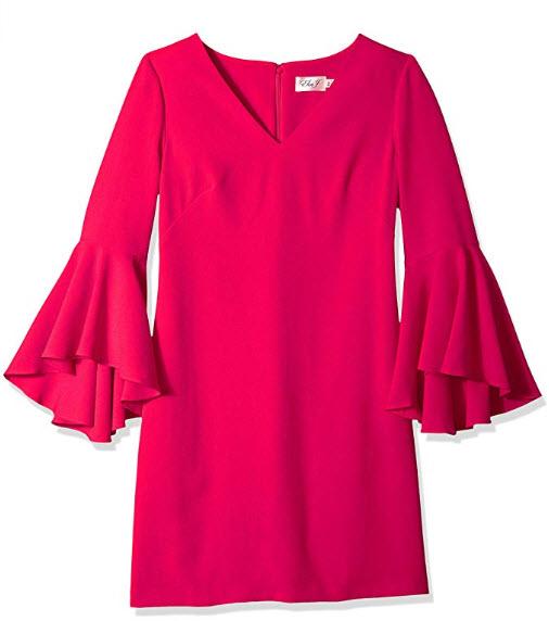Eliza J Women's V-Neck Bell Sleeves Shift Dress