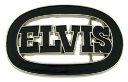 "Elvis Presley ""the King of Rock and Roll"" Men Women Musicians Belt Buckle."