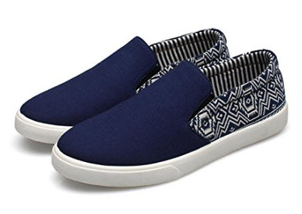 Elwow Men's Breathable Canvas Flat Loafers Slip on Bohemia Style Espadrilles, Business Wor ...